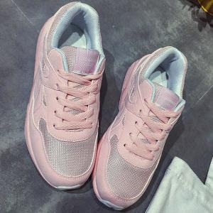 Breathable Mesh Athletic Shoes - LIGHT PINK 38