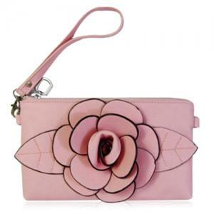 Cross Body Flower Wristlet Bag