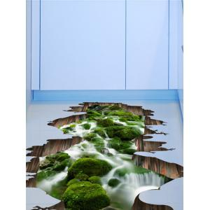Home Decor Removable 3D Stream Floor Sticker -
