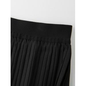 Plus Size Lace Trim Pleated Skirt -