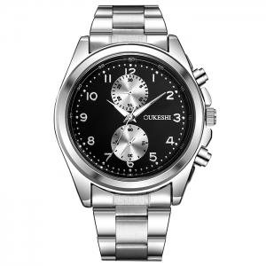 OUKESHI Steel Strap Number Wrist Watch -