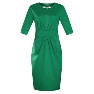 Plus Size Knee Length Pencil Work Dress