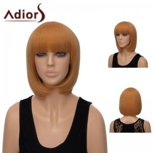 Adiors Neat Bang Short Silky Straight Bob Synthetic Wig