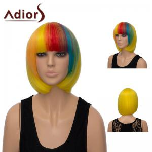 Adiors Neat Bang Colormix Short Silky Straight Bob Synthetic Wig