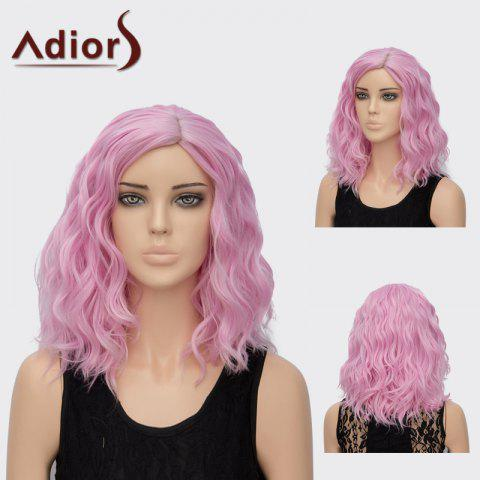Adiors Medium Side Part Curly Colormix Synthetic Wig - Pearl Light Pink