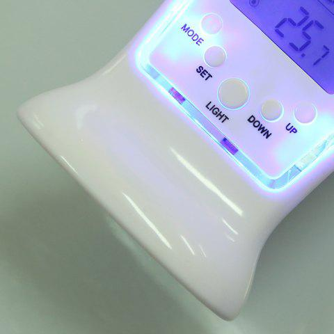 Fashion Calendar Temperature LCD Digital Alarm Clock - WHITE  Mobile