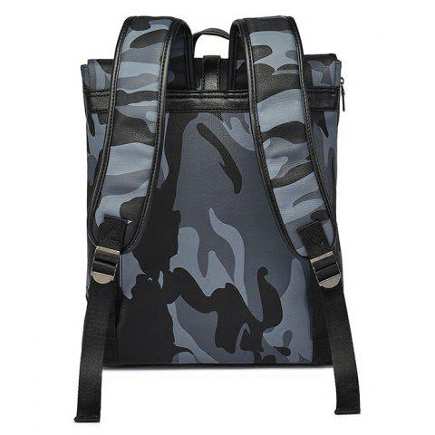 Unique PU Leather Camouflage Print Backpack - CAMOUFLAGE  Mobile