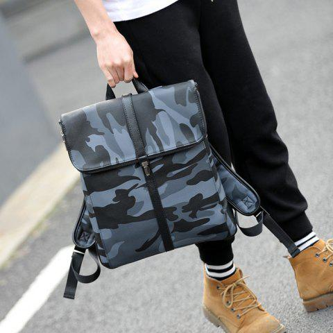 New PU Leather Camouflage Print Backpack - CAMOUFLAGE  Mobile