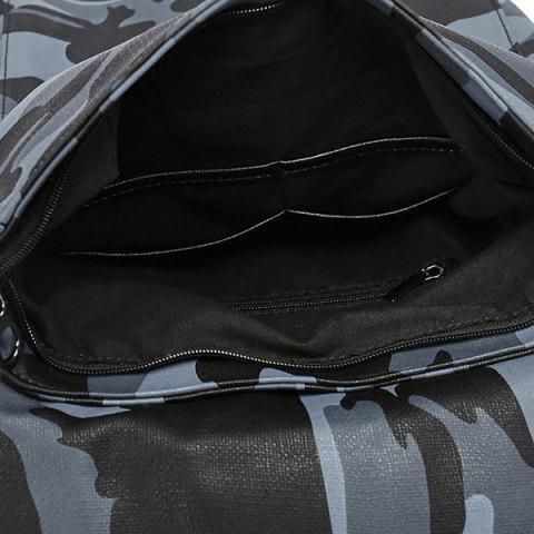 Shops PU Leather Camouflage Print Backpack - CAMOUFLAGE  Mobile