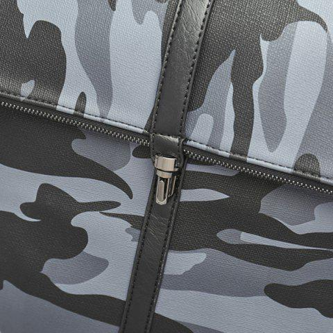 Affordable PU Leather Camouflage Print Backpack - CAMOUFLAGE  Mobile