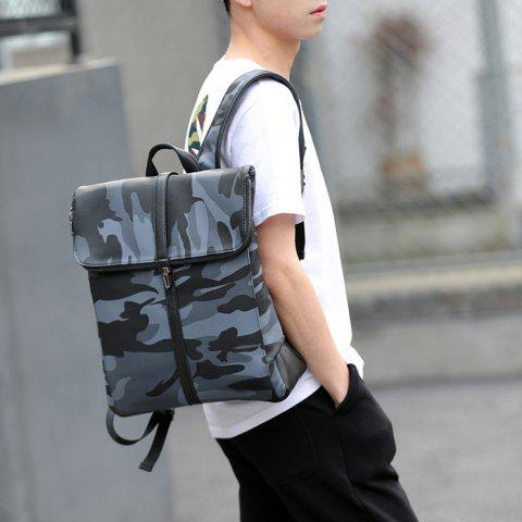 Cheap PU Leather Camouflage Print Backpack - CAMOUFLAGE  Mobile