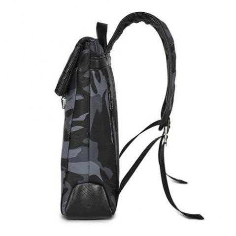 Shop PU Leather Camouflage Print Backpack - CAMOUFLAGE  Mobile