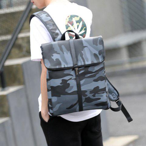 Outfit PU Leather Camouflage Print Backpack - CAMOUFLAGE  Mobile