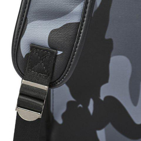 Buy PU Leather Camouflage Print Backpack - CAMOUFLAGE  Mobile