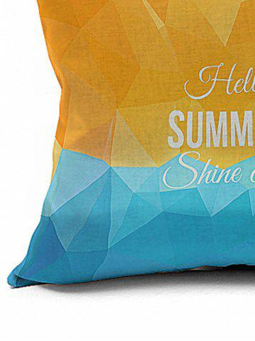 Chic Vintage Letter Geometric Print Decorative Pillow Case - 18*18INCH EARTHY Mobile