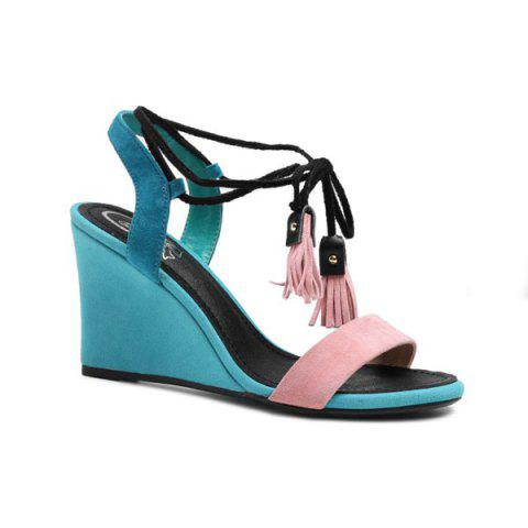 Sale Tassles Color Block Sandals