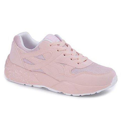 Latest Breathable Mesh Athletic Shoes - 38 LIGHT PINK Mobile