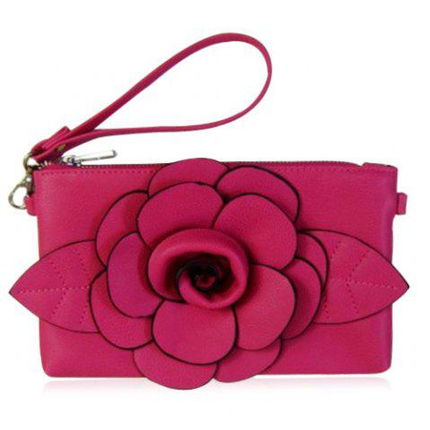 Chic Cross Body Flower Wristlet Bag - TUTTI FRUTTI  Mobile