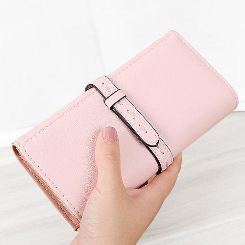 Fashion Strap Tri Fold Clutch Wallet