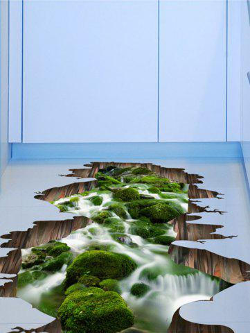 Shop Home Decor Removable 3D Stream Floor Sticker - 50*70CM GREEN Mobile