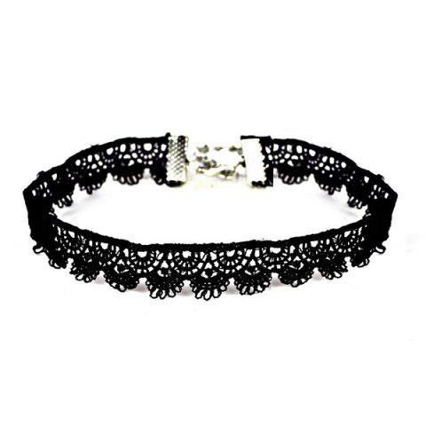 Unique Crochet Vintage Choker Necklace BLACK