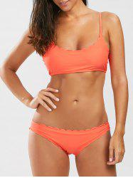 Scalloped Bralette Bikini Set
