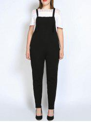 Plus Size Narrow Leg Pinafore Pants