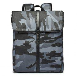 PU Leather Camouflage Print Backapck