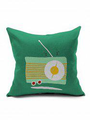 Retro Radio Print Cushion Cover Pillow Case