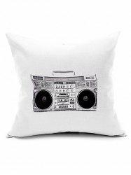 Vintage Radio Print Bedroom Decorative Pillow Case