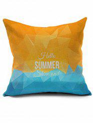 Vintage Letter Geometric Print Decorative Pillow Case