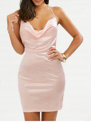 Halter Open Back Mini Club Bodycon Dress