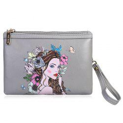 Beauty Painted Wristlet Clutch Bag