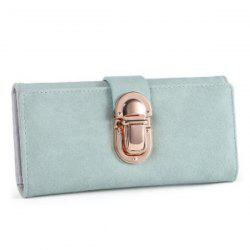 Trifold Push Lock Clutch Wallet