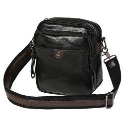 PU Leather Zips Crossbody Bag