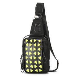 Triangle Print Nylon Crossbody Bag