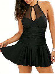 Halter Underwire Dress Swimwear