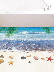 3D Removable Beach Starfish Floor Sticker - BLUE
