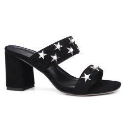 Block Heel Stars Slippers
