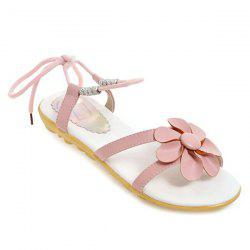 Lace Up Flower Sandals