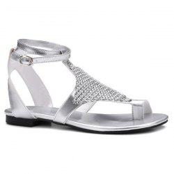 Toe Ring Faux Leather Sandals