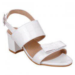 Patent Leather Bowknot Sandals