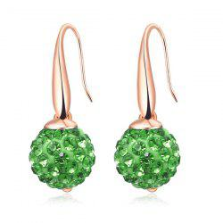 Rhinestoned Ball Drop Earrings
