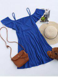 Cold Shoulder Skater Mini Casual Beach Dress