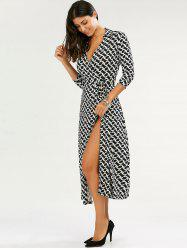 Maxi Printed Wrap Dress