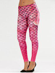 Scale Allover Print Mermaid Leggings