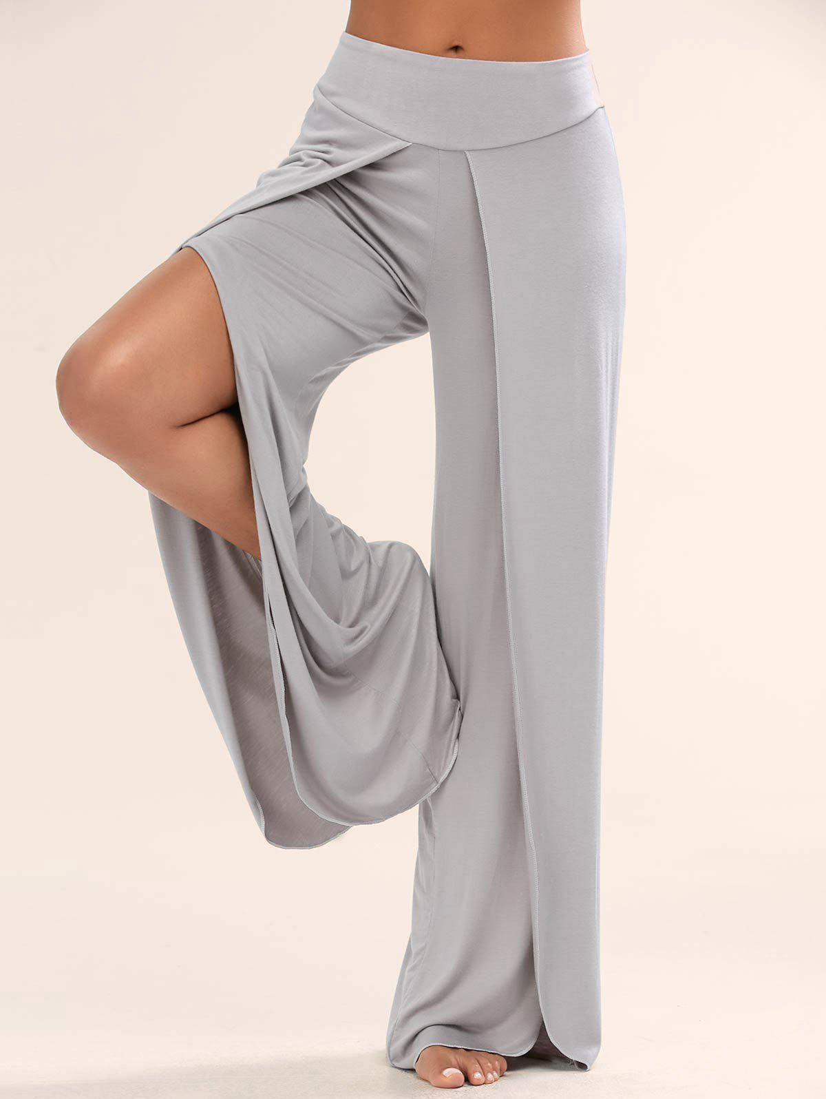 Shops High Slit Palazzo Pants
