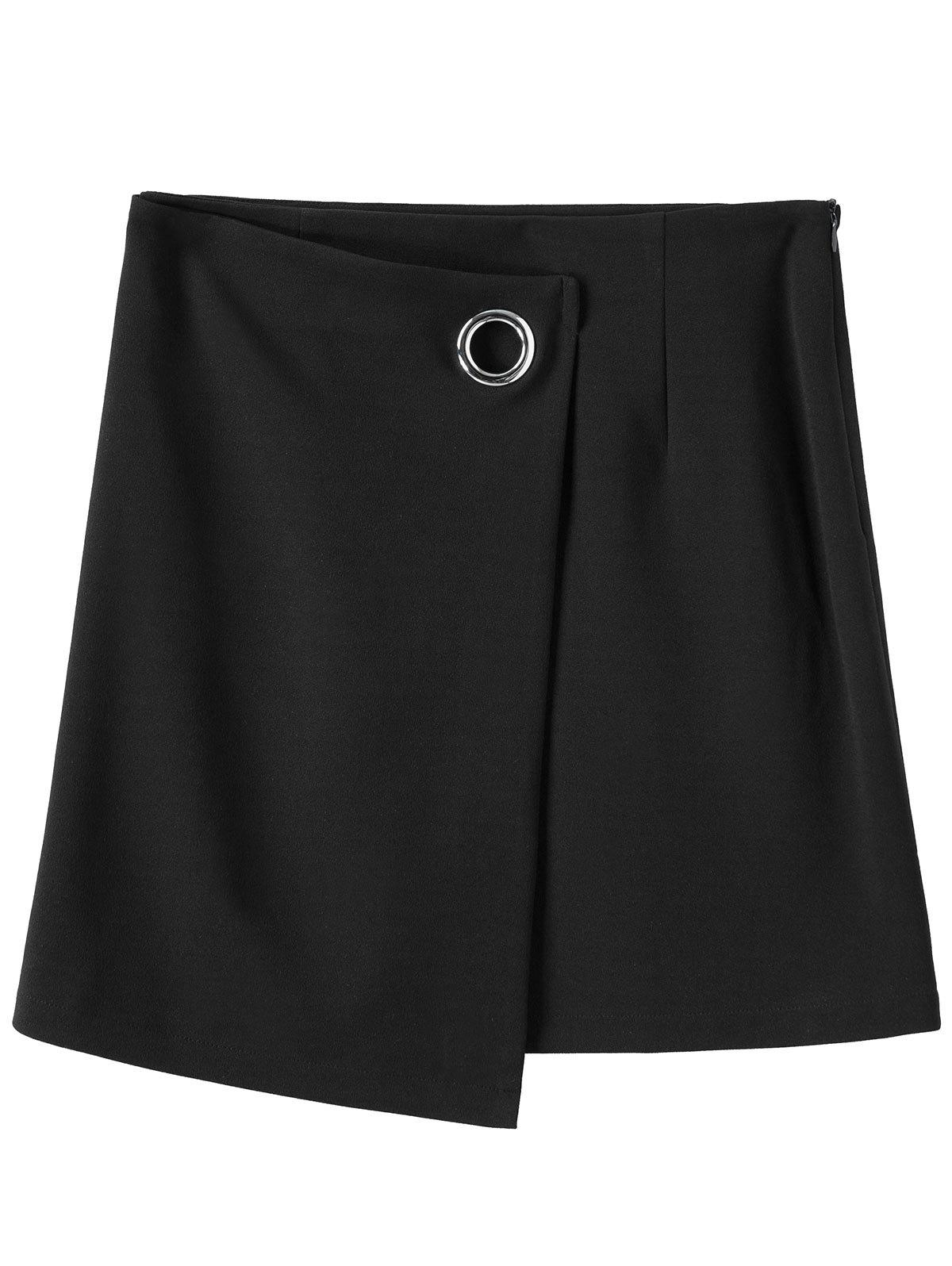 Chic Mini Plus Size Zippered Skirt