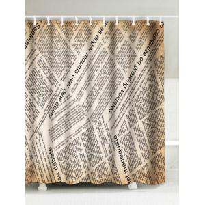 Vintage English Newspaper Waterproof Polyester Shower Curtain