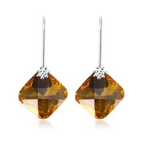 Faux Crystal Geometric Drop Earrings